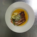 grouper in saffron broth