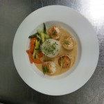 scallops with red curry sauce